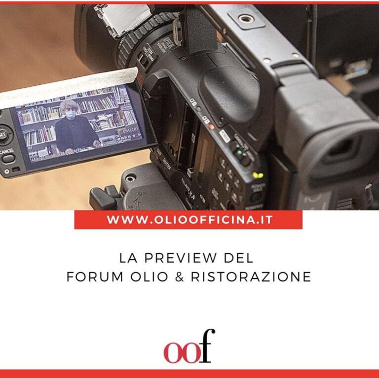 La preview del Forum Olio & Ristorazione per chi l'avesse persa
