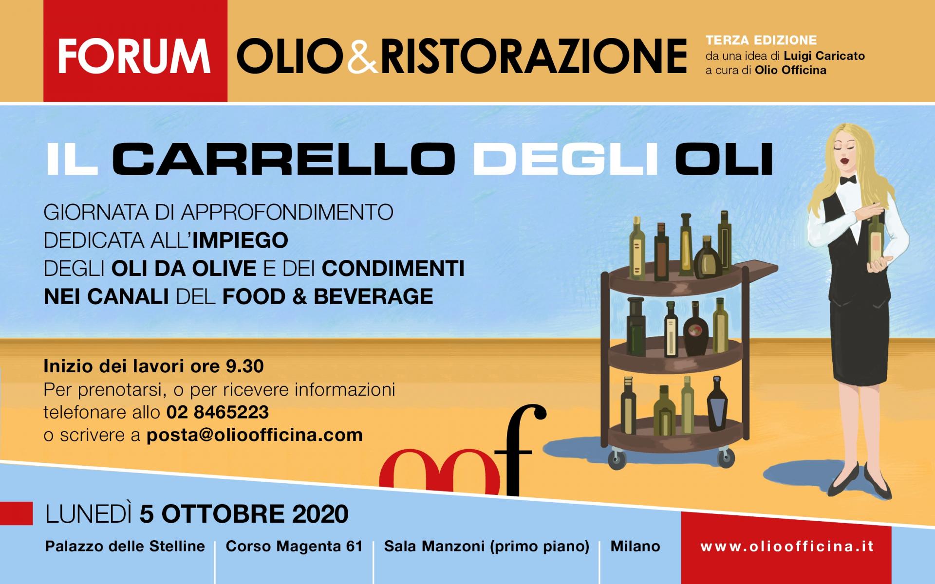 Prenotate il vostro posto per la terza edizione del Forum Olio & Ristorazione