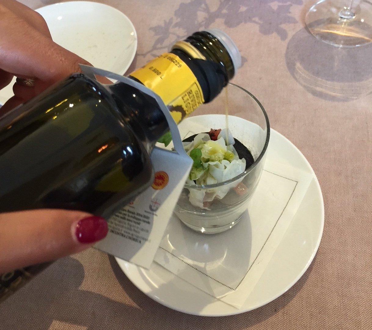 L'olio ligure nei ristoranti
