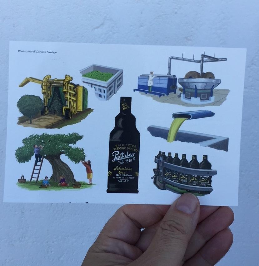 Timbro postale per l'olio Pantaleo