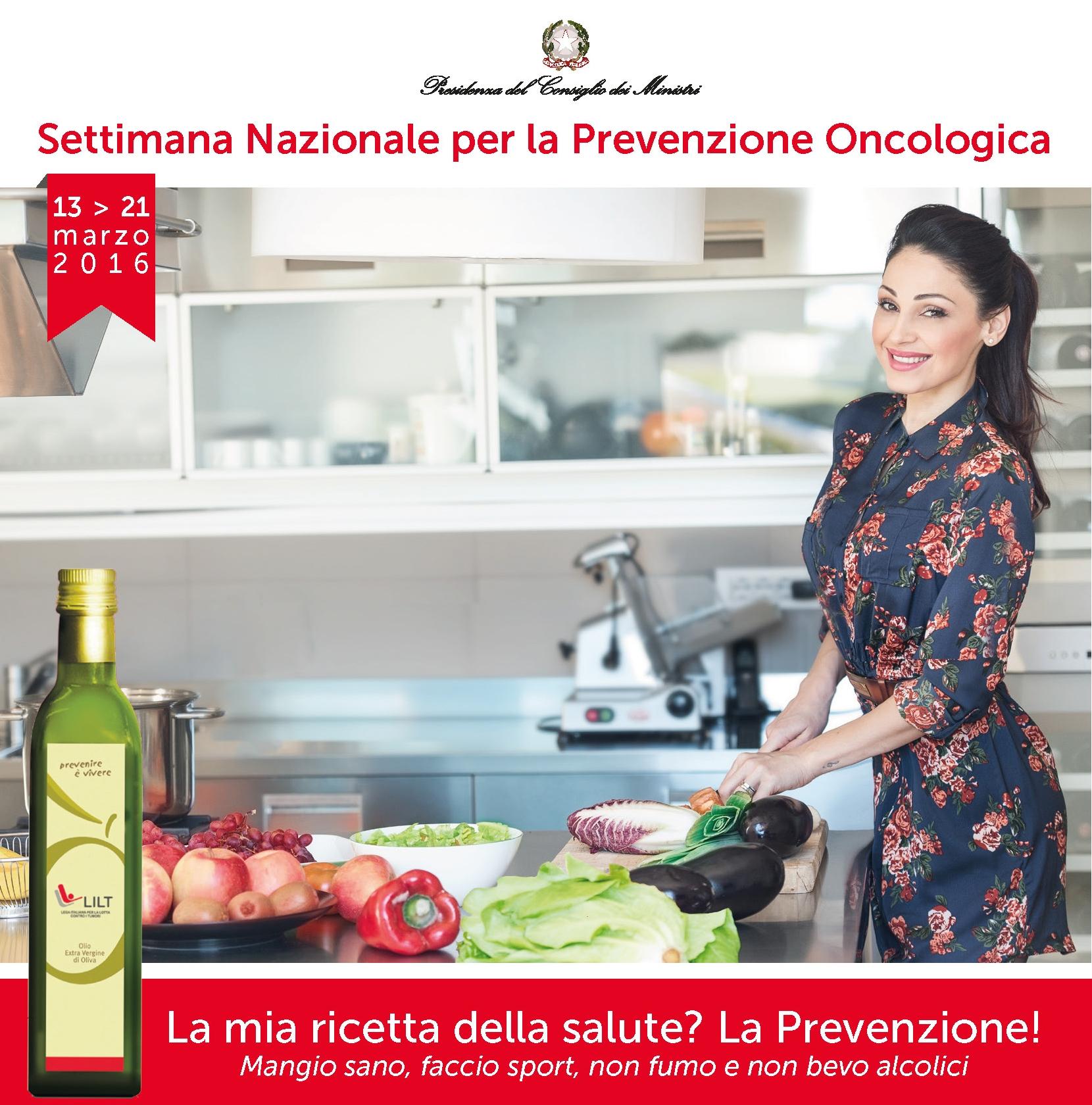 Anche l'olio da olive alla Settimana nazionale per la prevenzione oncologica