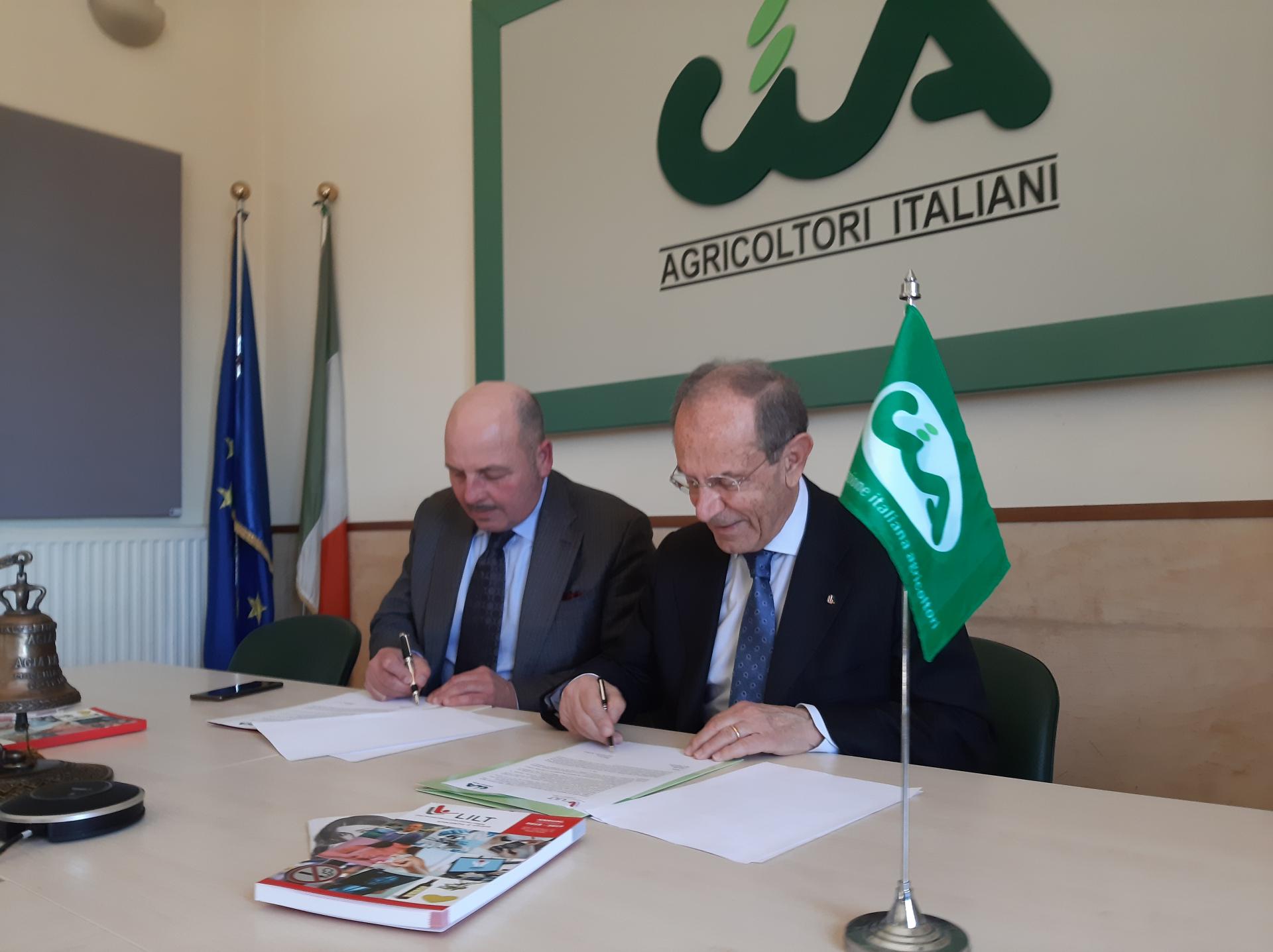 L'olio in primo piano, Lilt Lega Italiana per la lotta contro i tumori e Cia-Agricoltori Italiani insieme a sostegno della prevenzione