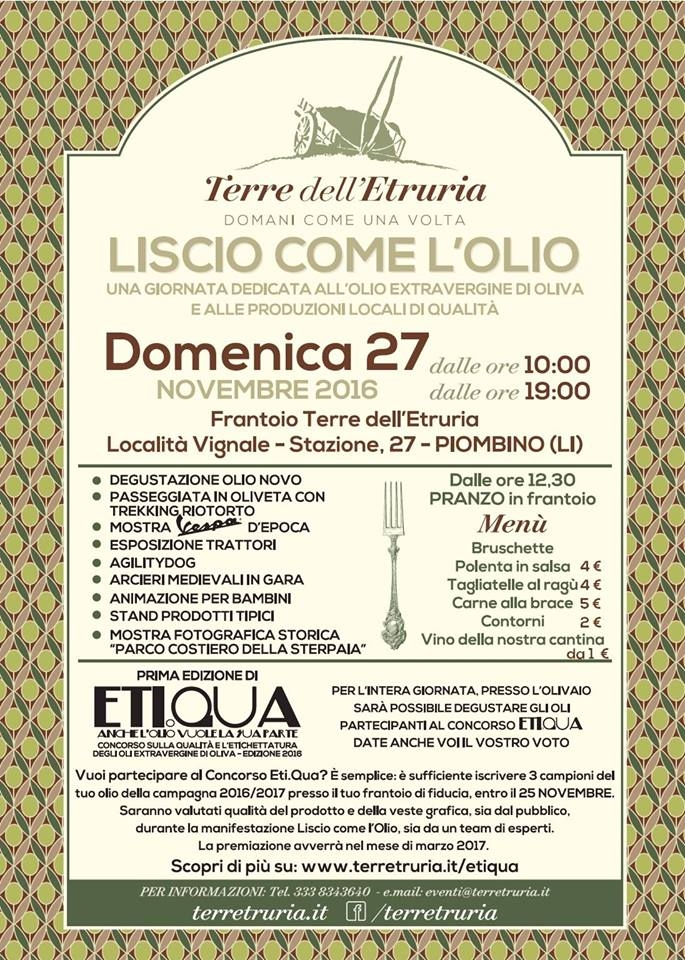 Terre dell'Etruria, la seconda edizione di Liscio come l'olio al frantoio di Vignale