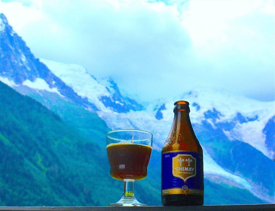 Meditando sotto il Monte-Blanc con una Chimay Bleue del 2014