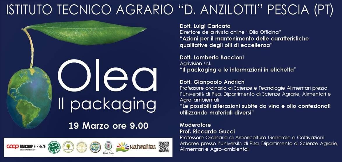 Il packaging nel settore degli oli da olive, un incontro a Pescia