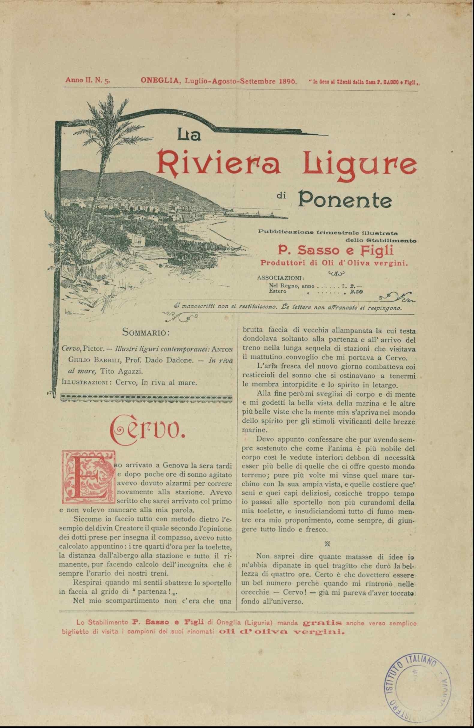 La famiglia Novaro e l'olio da olive: l'altro volto della «Riviera Ligure»