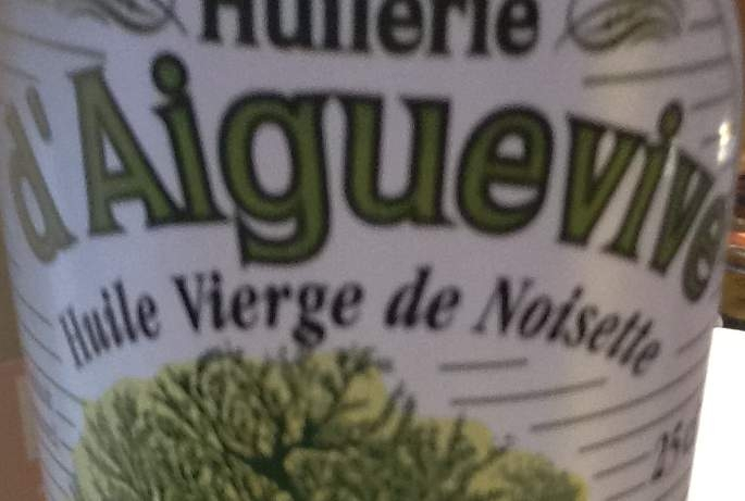 Huile vierge de Noisette