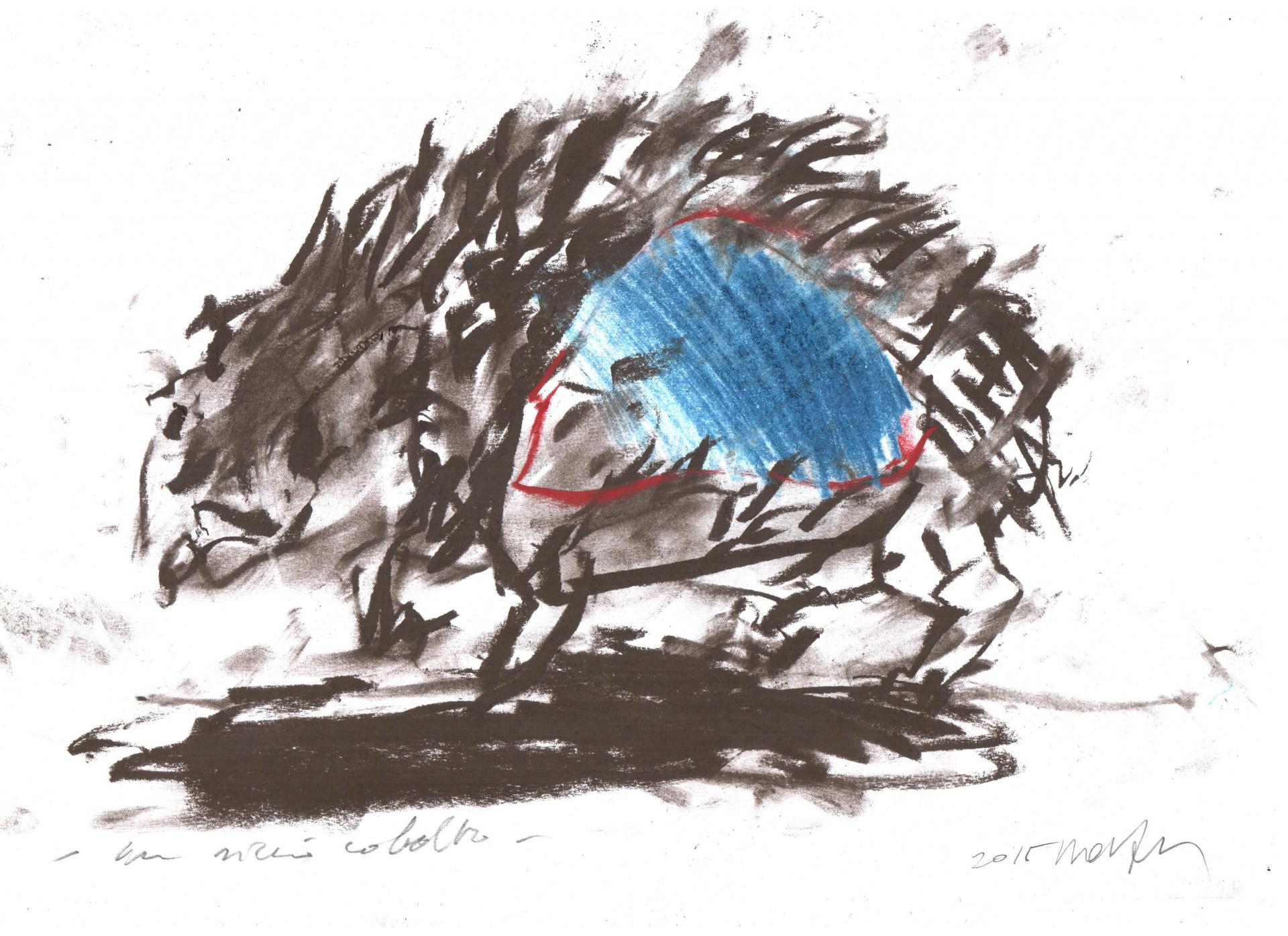 Un riccio cobalto