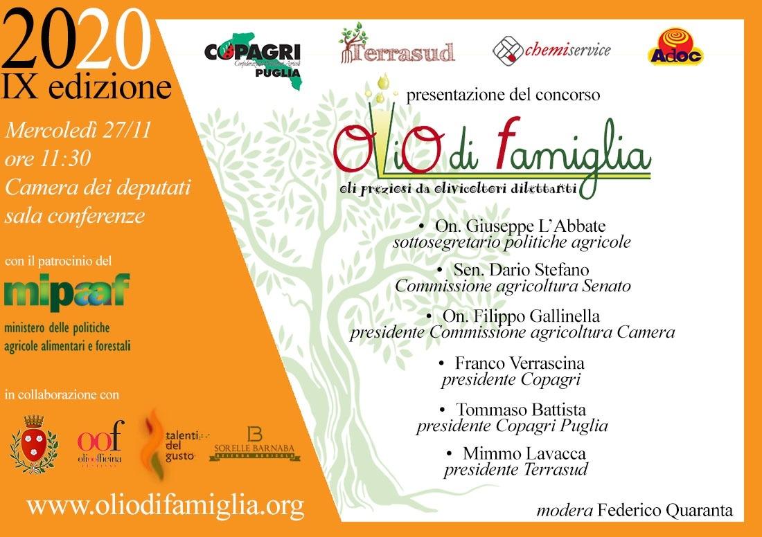 """Presentazione della IX edizione del concorso """"Olio di Famiglia"""""""