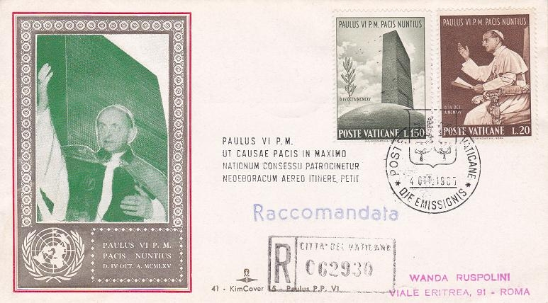 I francobolli di Paolo VI
