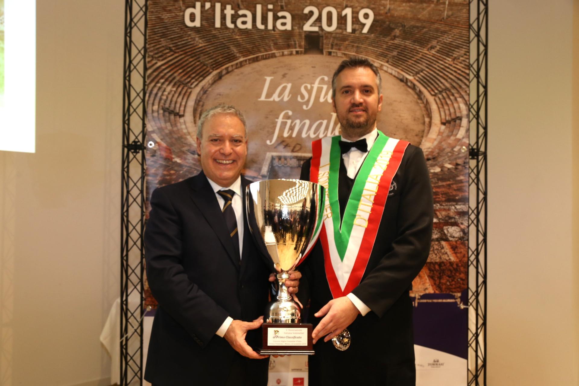 È Valentino Tesi il primo sommelier d'Italia 2019