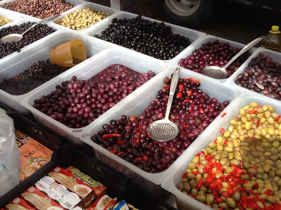 La lavorazione delle olive