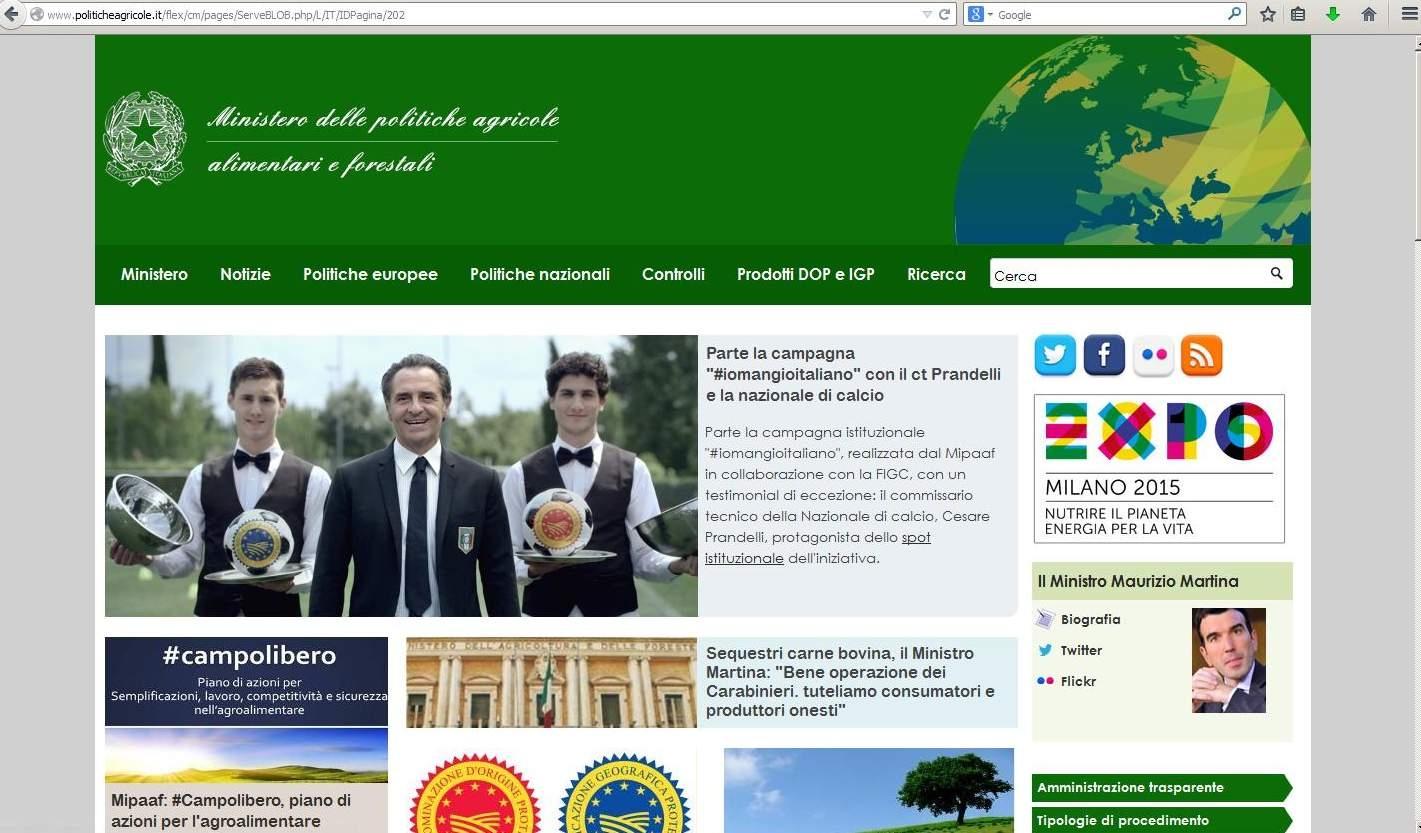 Il portale delle Politiche agricole