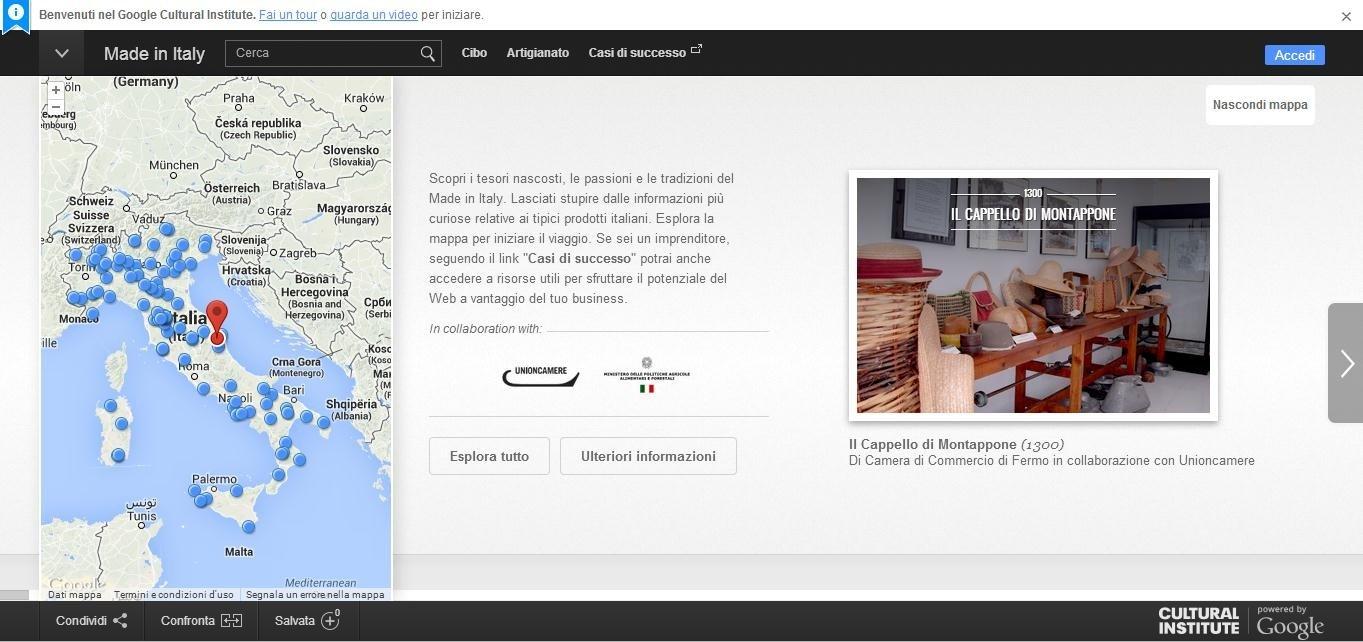 Google per il made in Italy