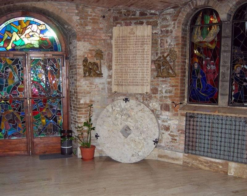 Il frantoio divenuto chiesa
