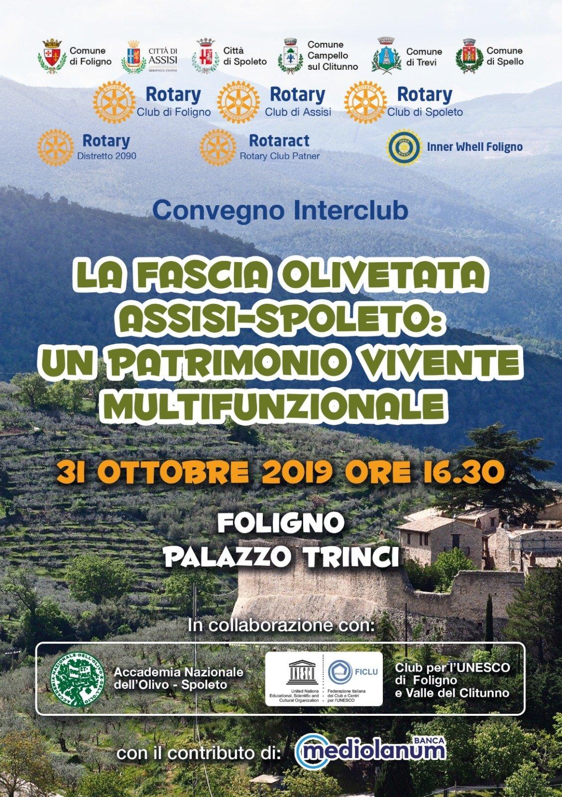 Foligno, convegno sulla fascia olivetata Assisi Spoleto quale patrimonio vivente multifunzionale