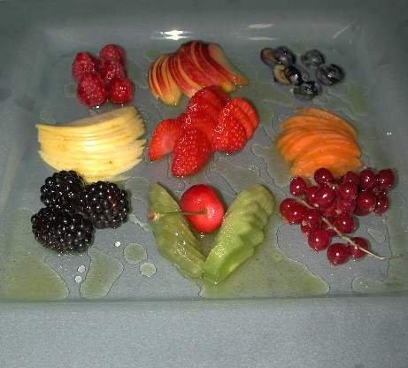 Frutta fresca con olio alla vaniglia