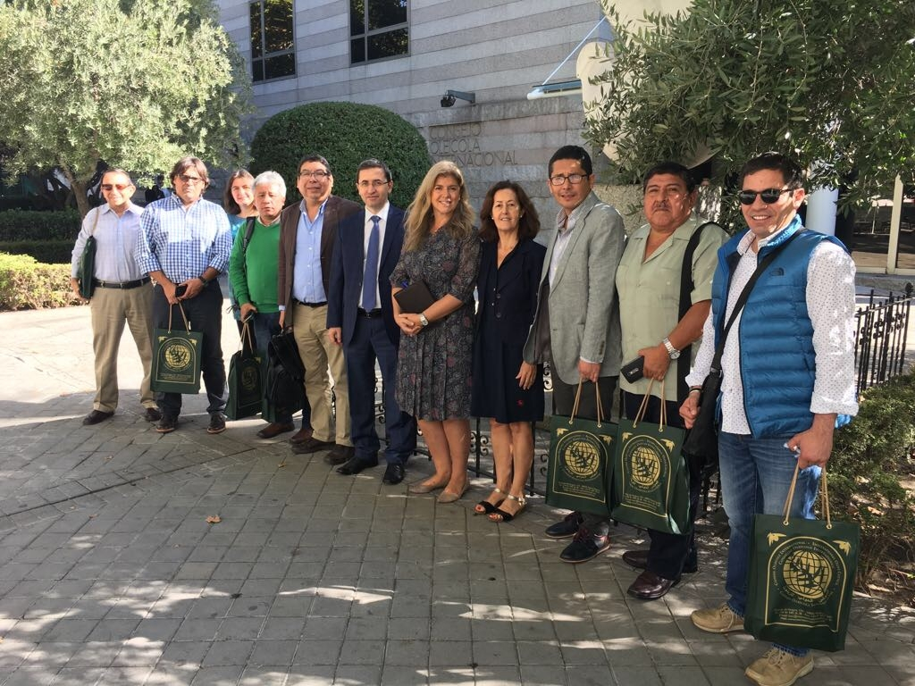 Peruvian Pro Olivo delegation at the International Olive Council