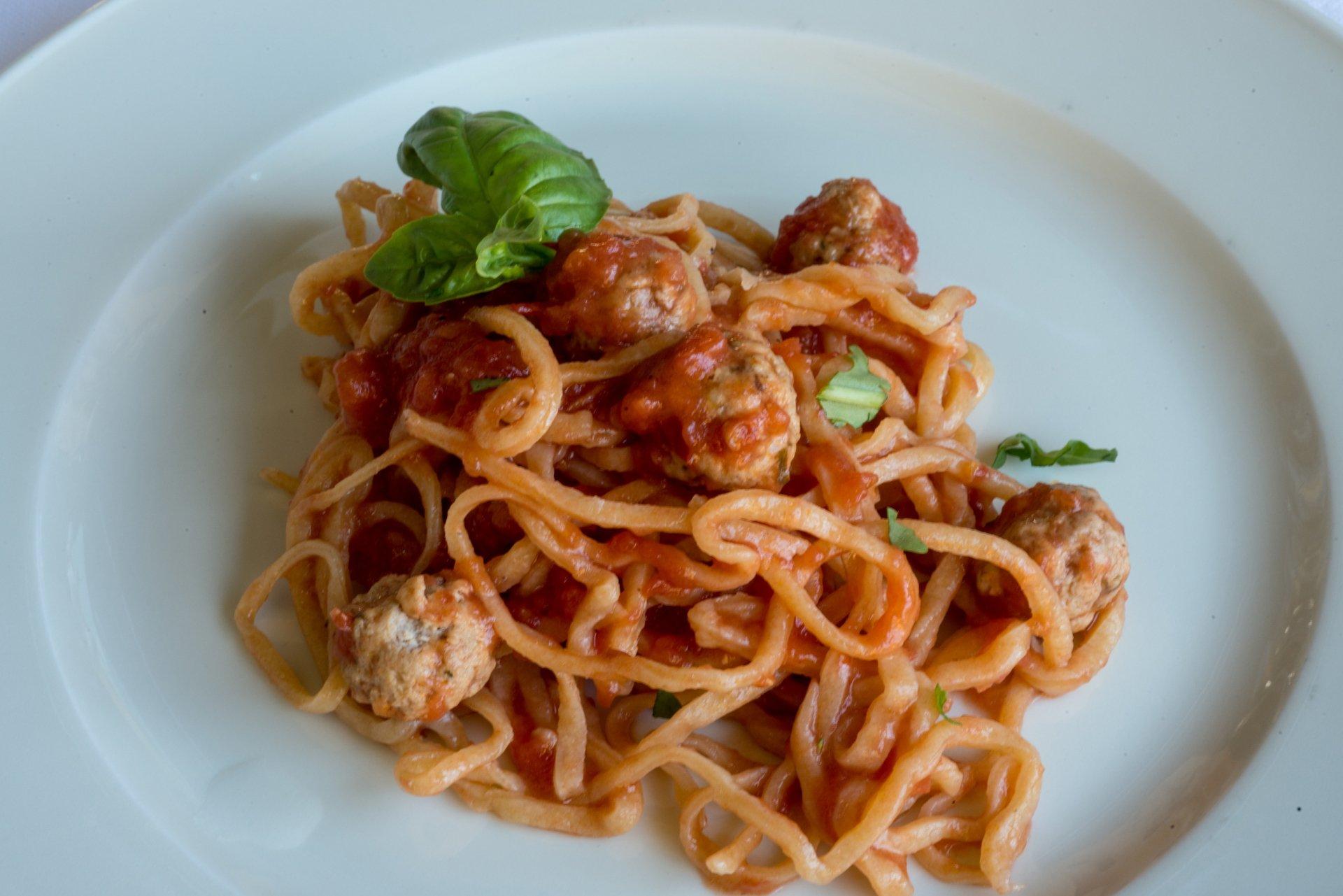 Strangozzi & Meatballs by Lidia Bastianich