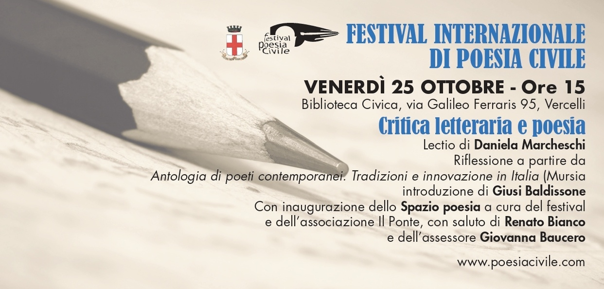 L'Antologia di poesia Mursia presentata a Vercelli