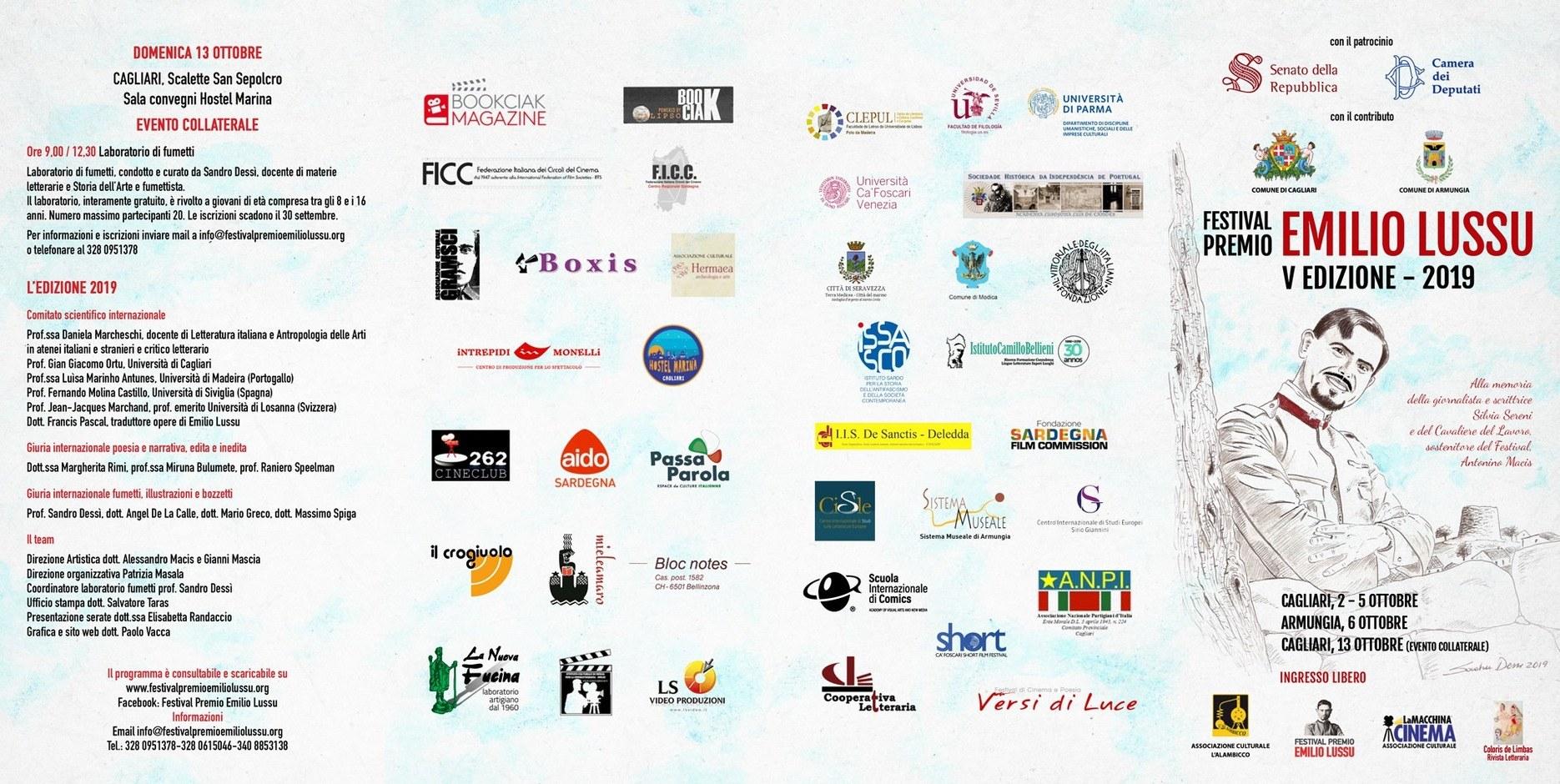 Festival Premio Emilio Lussu - Cagliari-Armungia, 2-6 ottobre 2019