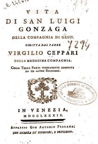 Luigi Gonzaga e la santa virtù dell'olio miracoloso e guaritore