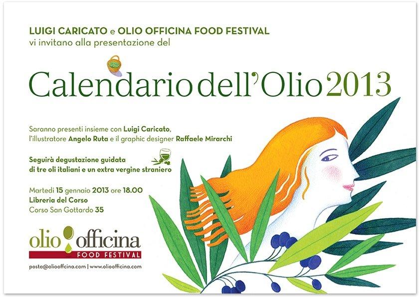 Il Calendario dell'olio 2013, parla Raffaele Mirarchi