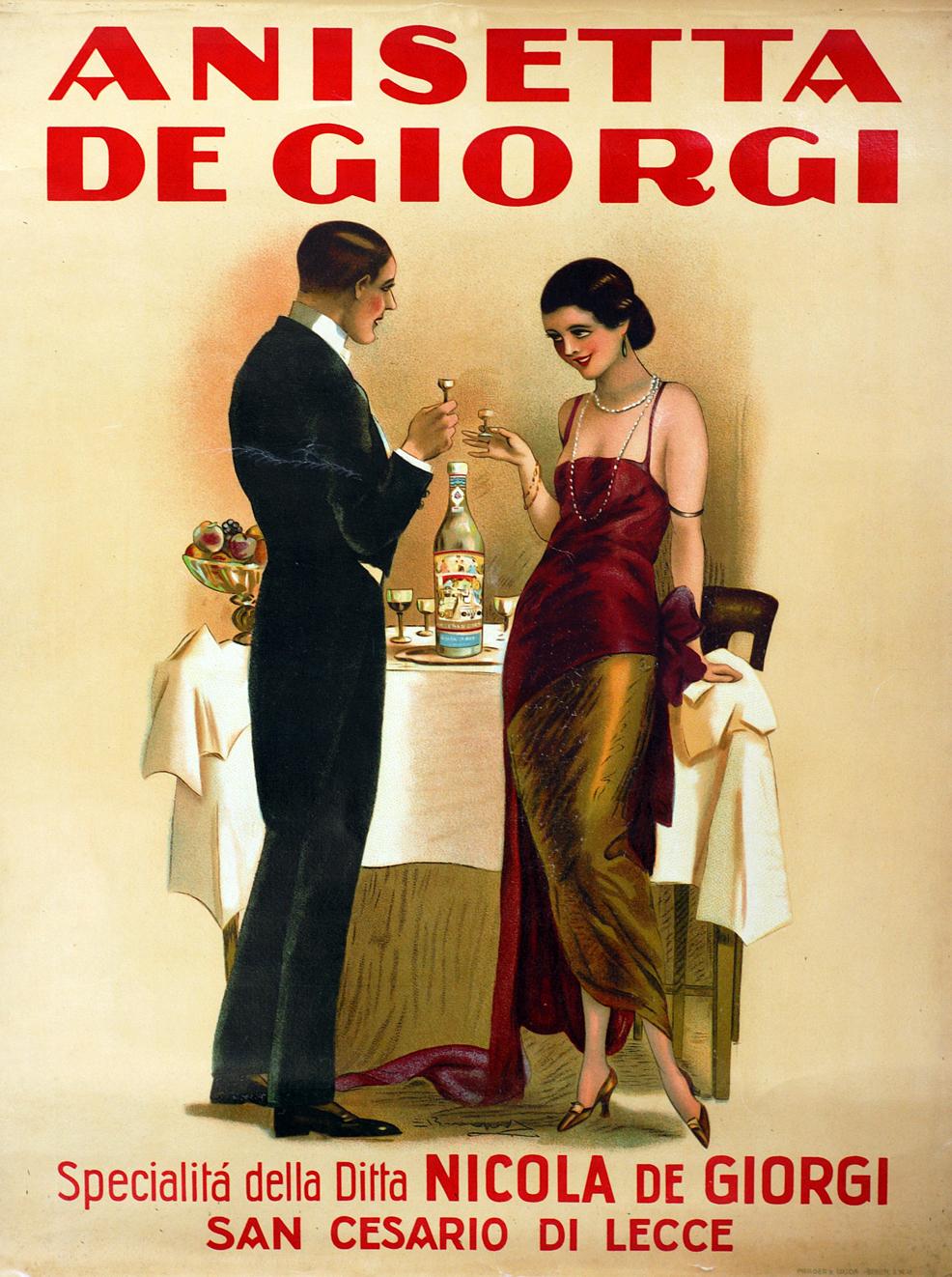 Il Brevetto della Real Casa per il liquore Anisetta De Giorgi