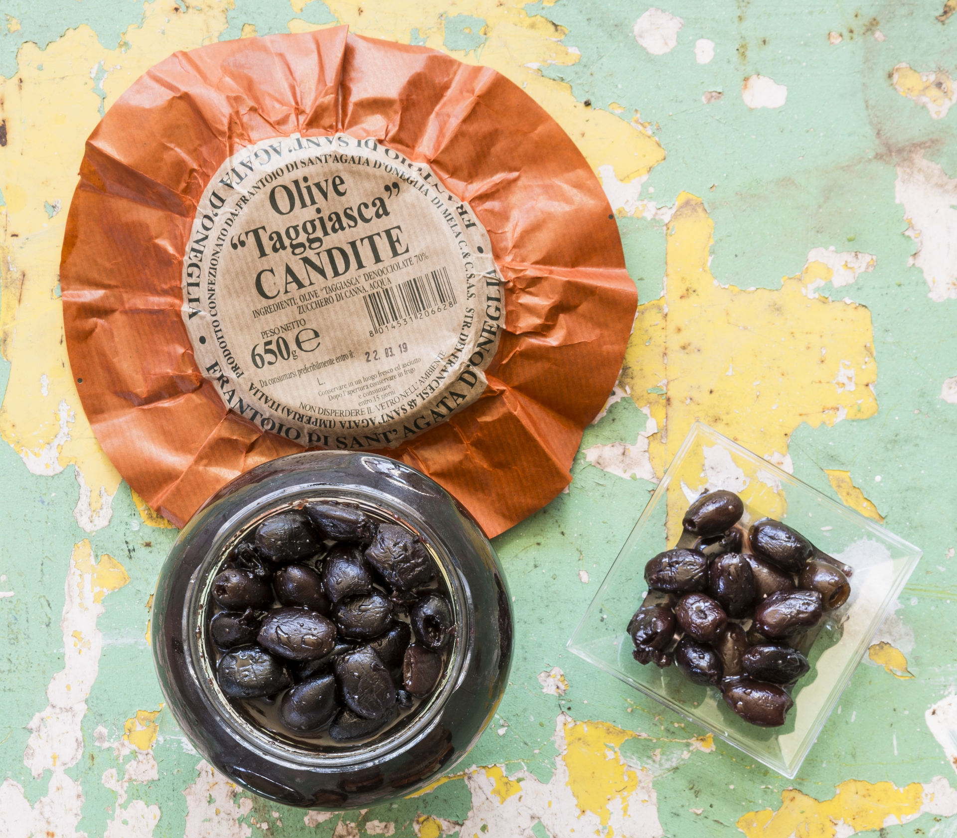 Olive Taggiasca candite
