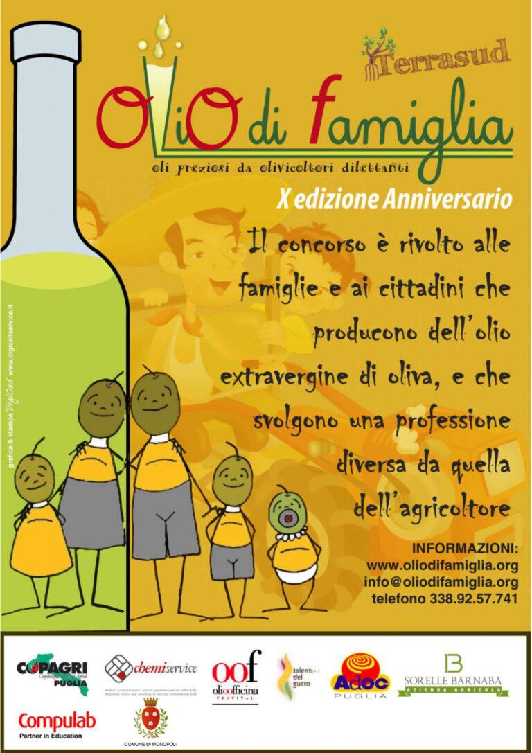 Il lancio della decima edizione di Olio di Famiglia