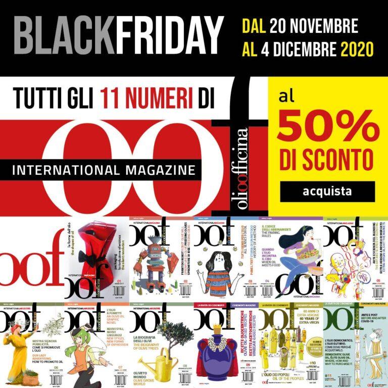 Il black friday è l'occasione per avere tutti gli undici numeri OOF International Magazine