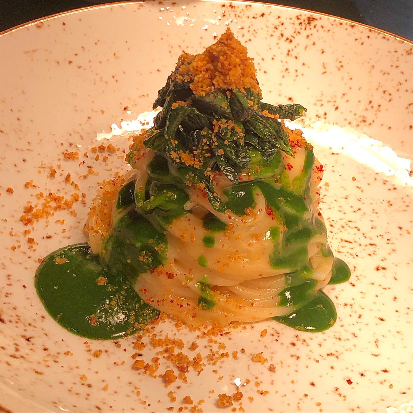 Spaghettone fresco, aglio di Lautrec, olio Dop Monti Iblei