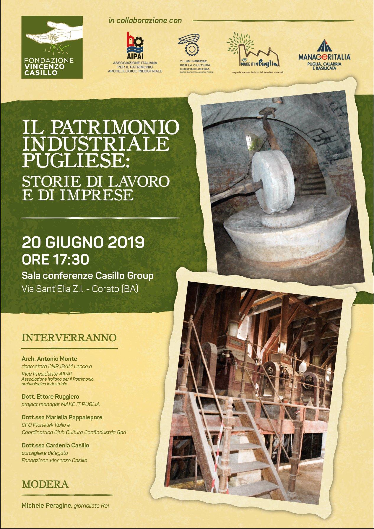 Corato,un convegno sul patrimonio industriale pugliese