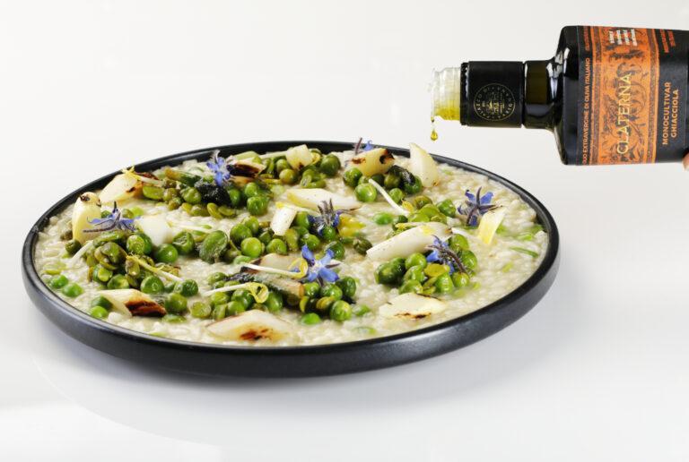 Risotto mantecato in purezza all'olio extra vergine di oliva
