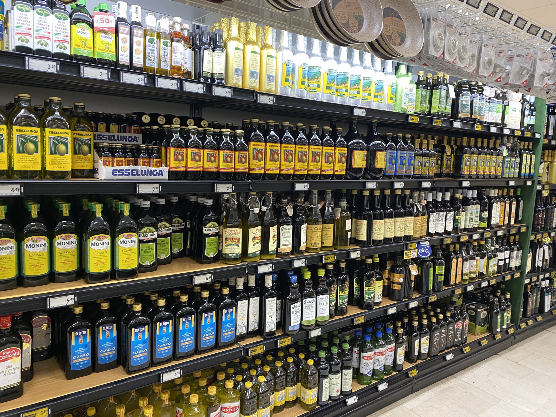 Olive Oil stocked in Italy. Update of 28 February 2021