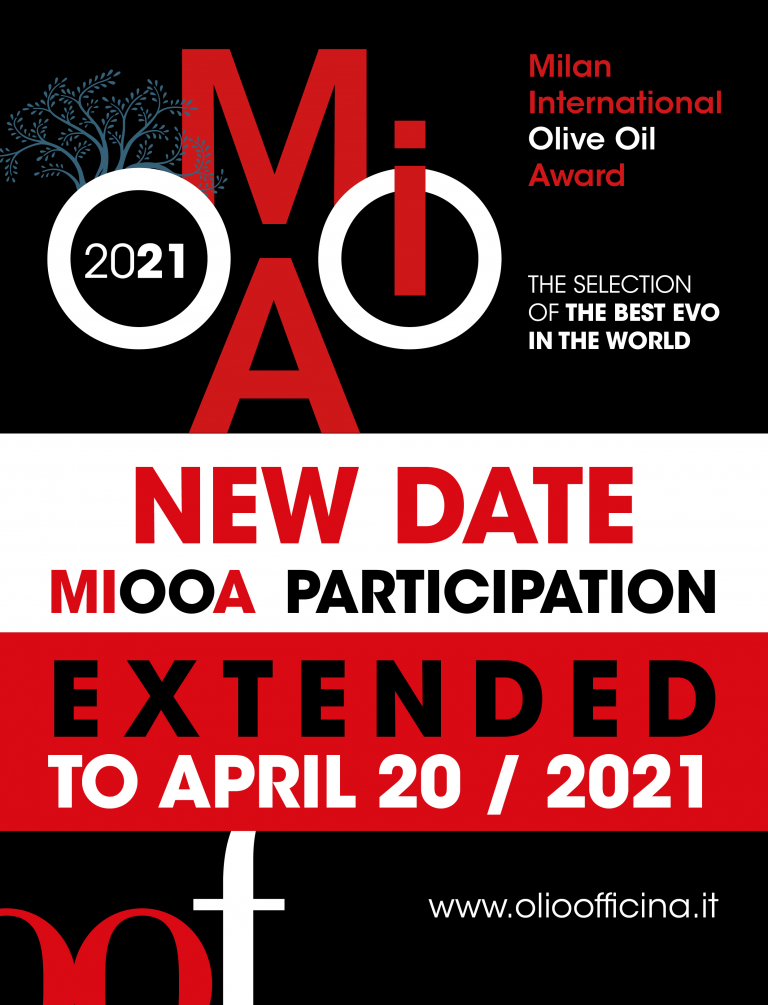 We have extended until April 20 the second edition of Milan International Olive Oil Award