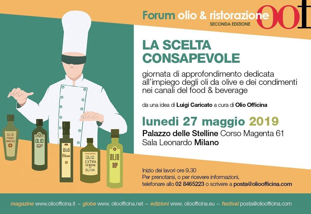 Seconda edizione del Forum Olio & Ristorazione, appuntamento a Milano il 27 maggio