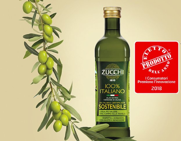 L'olio extra vergine di oliva Sostenibile Zucchi eletto Prodotto dell'Anno 2018