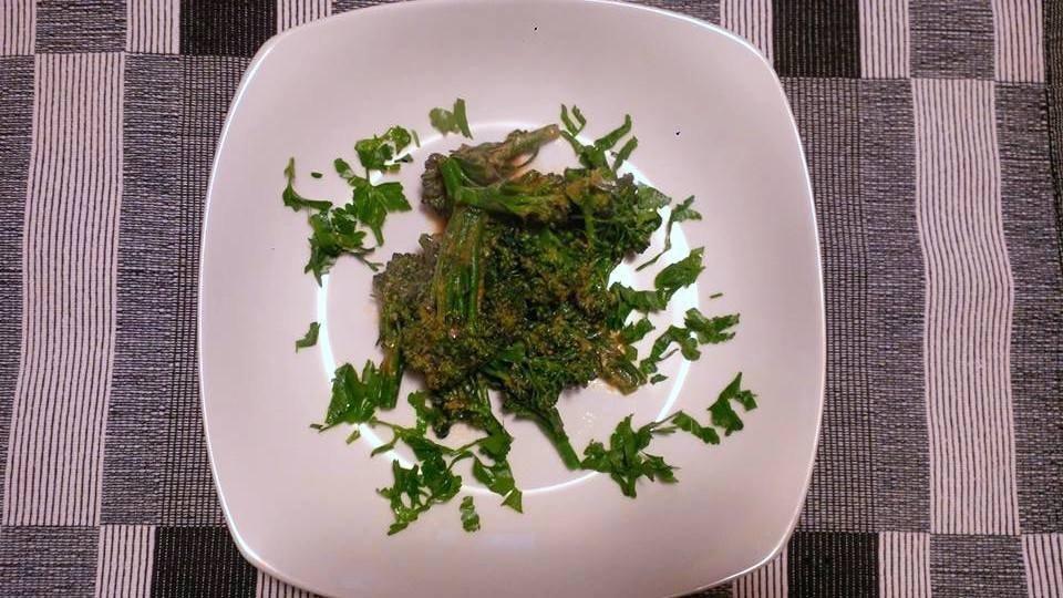 Broccoli e cipolla egiziana ligure