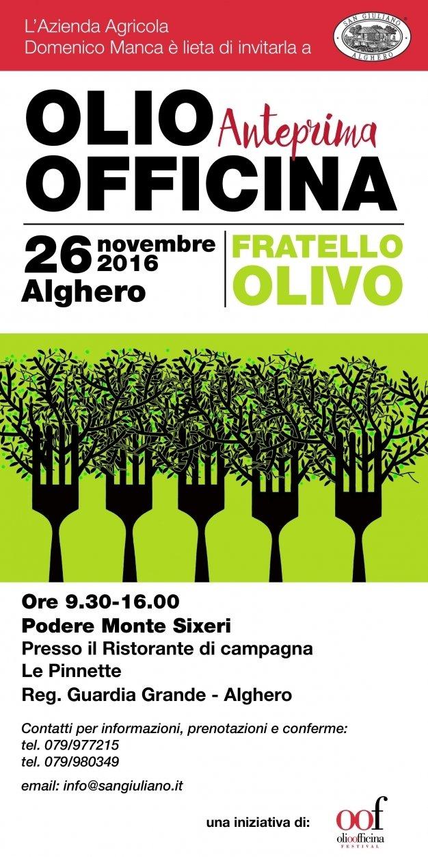 Alghero, il 26 novembre Olio Officina Anteprima