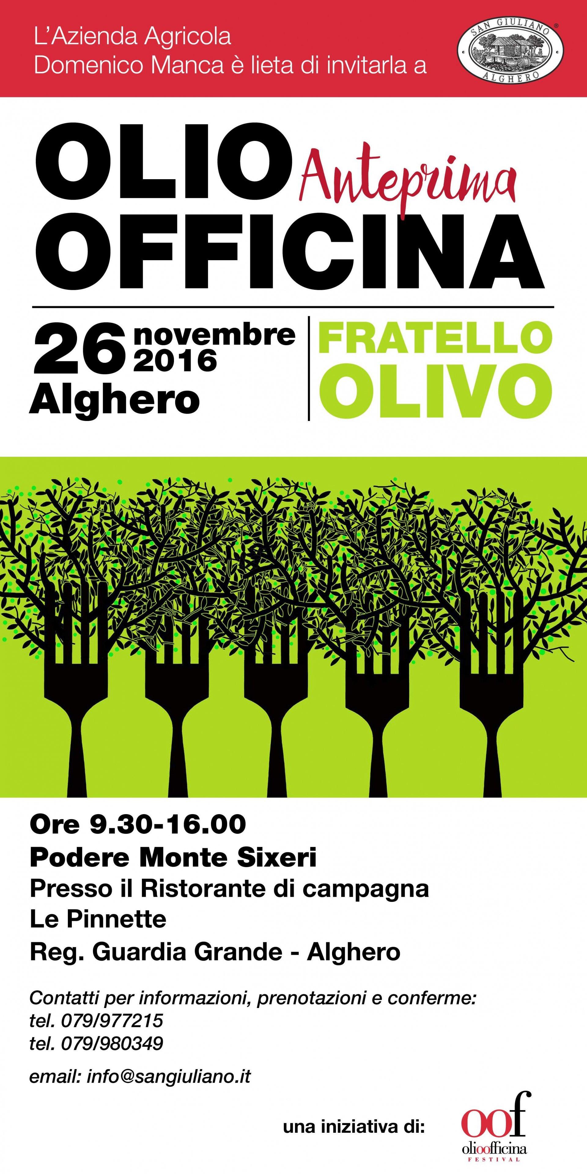 Alghero, San Giuliano: anche una cena oliocentrica a Olio Officina Anteprima