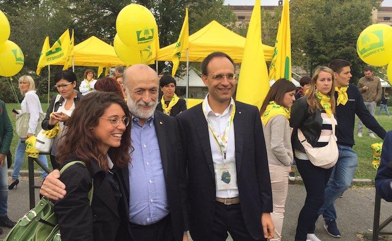 Carlo Petrini, arruolato tra le fila di Coldiretti, ha assunto l'incarico di presidente della Fondazione Campagna Amica