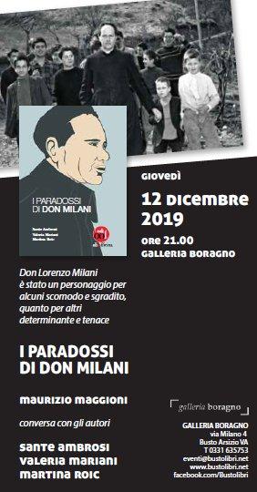 """Presentazione del libro """"I Paradossi di Don Milani"""" alla Mondadori Bookstore di Busto Arsizio"""