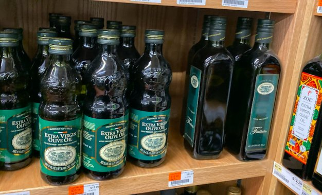 Olive Oil stocked in Italy
