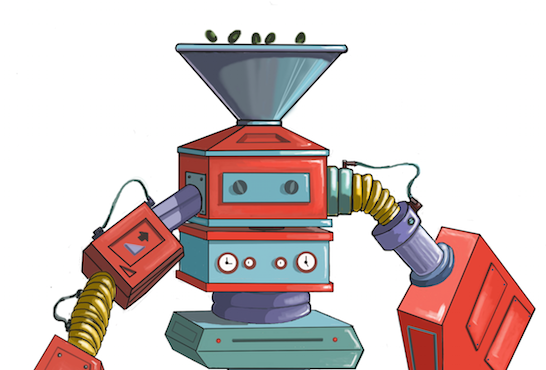 Robot olive mill