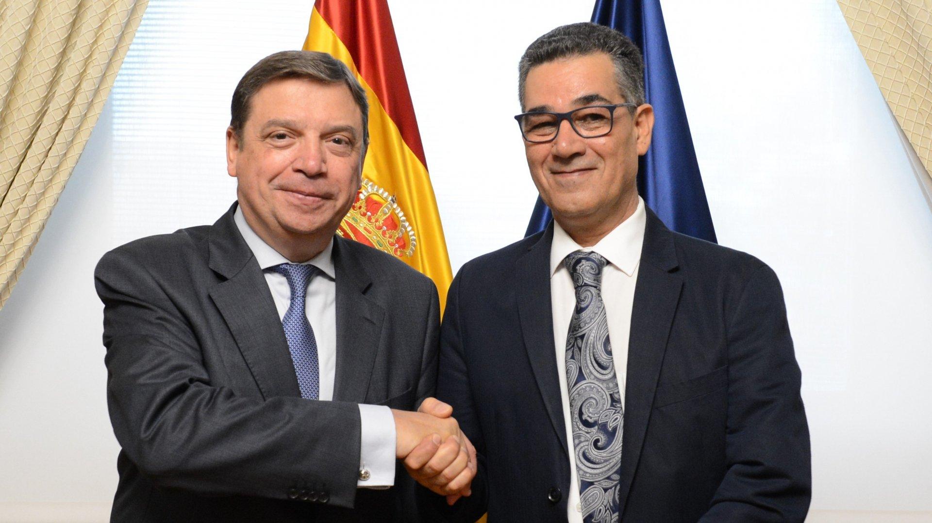 Il ministro dell'agricoltura spagnolo Luis Planas ha incontrato il direttore esecutivo del Coi Abdellatif Ghedira