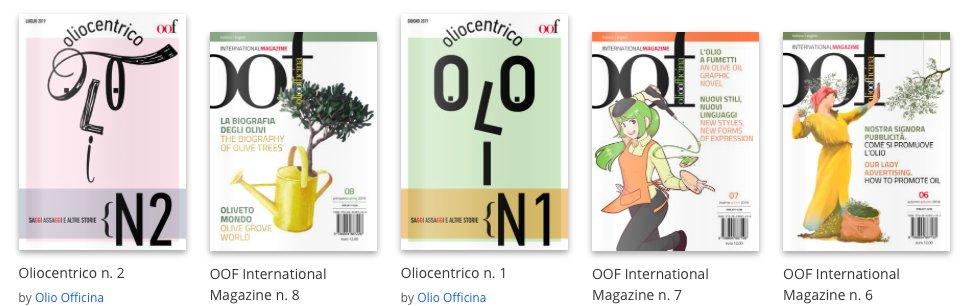 Le pubblicazioni della casa editrice Olio Officina che si possono sfogliare digitalmente