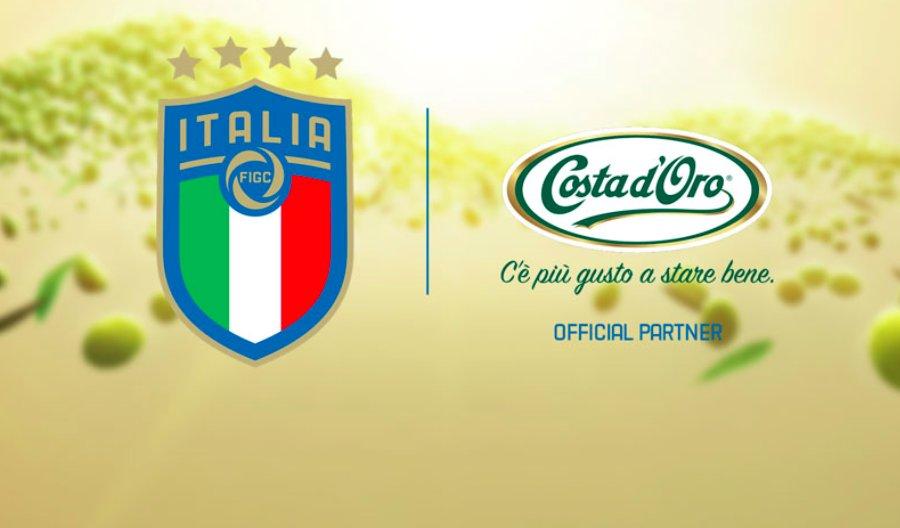 L'olio da olive per il calcio. Costa d'Oro è olio ufficiale della nazionale azzurra