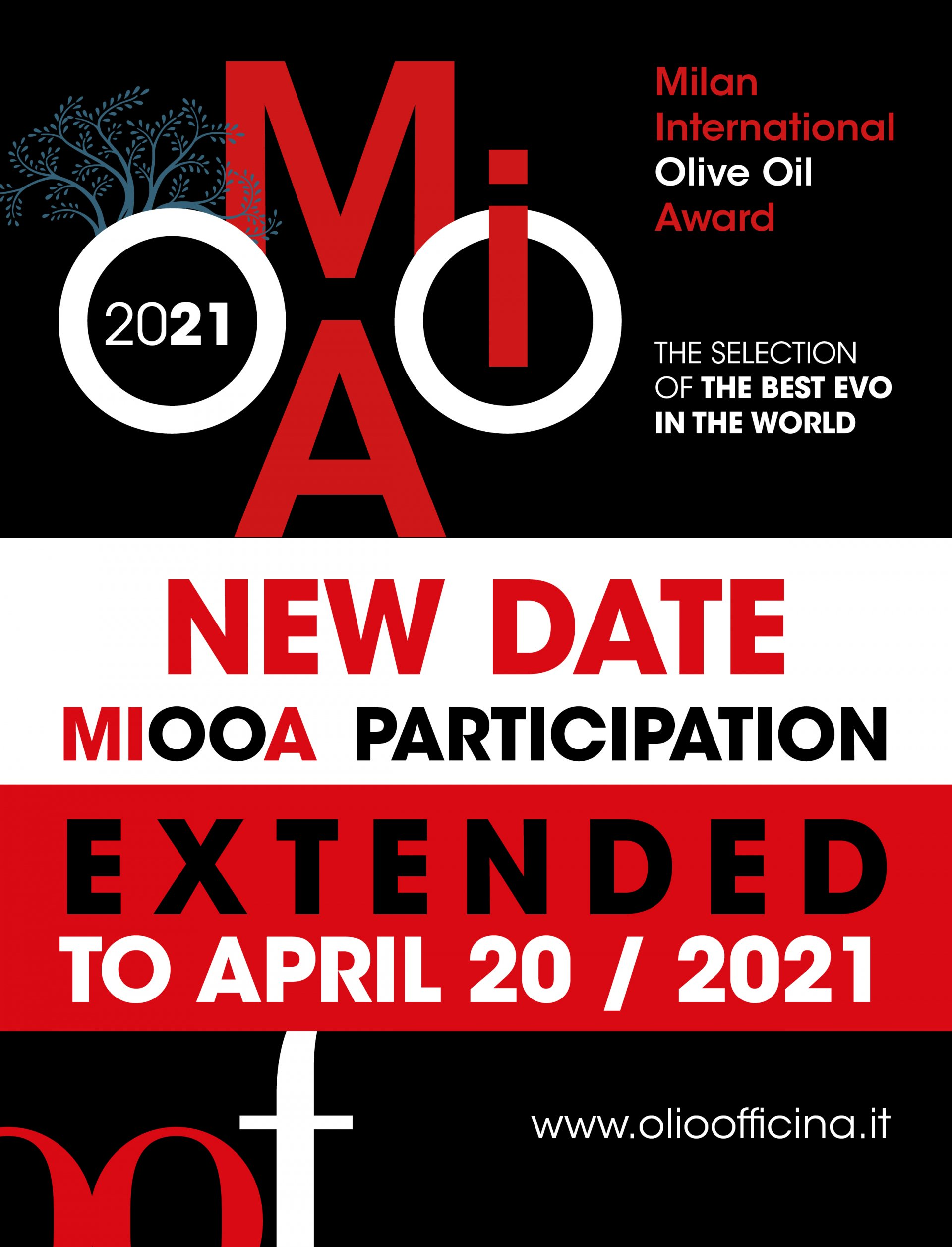 There is time until April 20 to send the olive oils for the Milan International Olive Oil Award competition