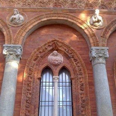 Una austera finestra all'Università Statale di Milano